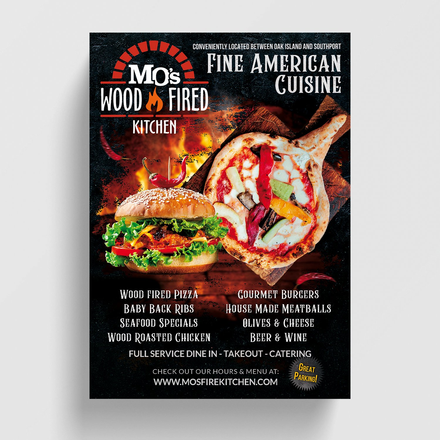 Mo's Wood Fired Kitchen Flyer ©Jacob Clayton